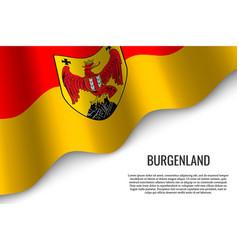 Waving flag of region austria vector