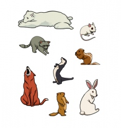 Zoo mammals vector