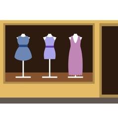 Boutique womens clothing shop vector image