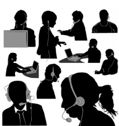 secretary and call center vector image