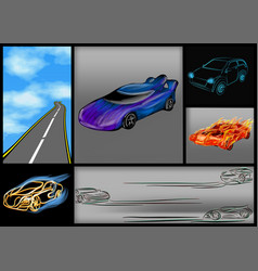 set of abstrct cars vector image vector image