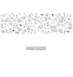 business development doodles objects background vector image vector image