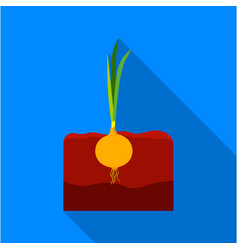 onion icon flat single plant icon from the big vector image