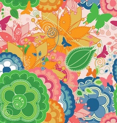 Colorful Modern Seamless Pattern with Butterflies vector image vector image