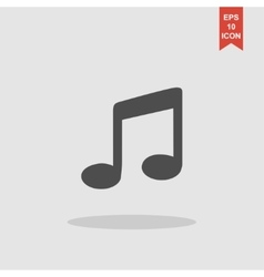 music Flat Simple Icon isolated vector image