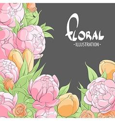 Summer delicate flowers vector image