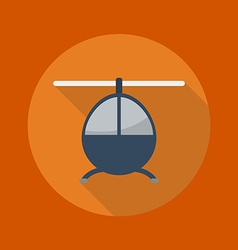 Transportation Flat Icon Helicopter vector image