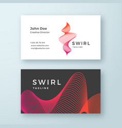 abstract blend swirl business card template vector image vector image