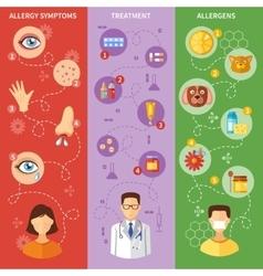 Allergy Symptoms Vertical Banners vector image vector image