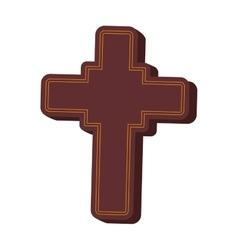 cross shape god belief religion icon vector image