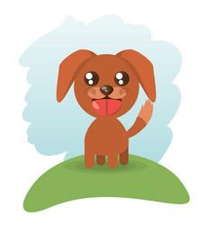 cute doggy animal wildlife vector image vector image