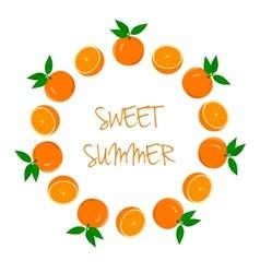 Frame of Oranges and Orange Slices vector image