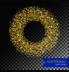 glitter circle backdrop vector image