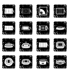 Sport stadium icons set simple style vector image vector image