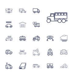 22 car icons vector