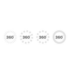 360 degree views set icon 360 view symbol set of vector image