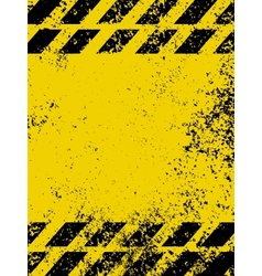 A grungy and worn hazard stripes vector image