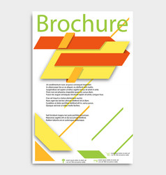 abstract brochure template flyer layout flat vector image