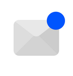 active message icon vector image