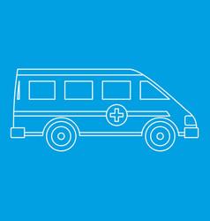 ambulance emergency paramedic car icon vector image