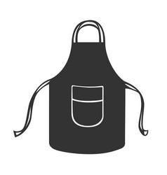 Black kitchen protective apron vector