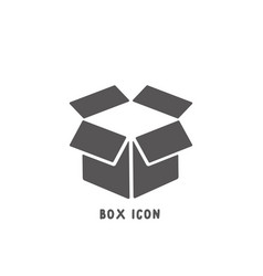 box icon simple flat style vector image