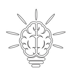 brain light bulb icon vector image