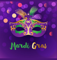 Bright mardi gras background vector