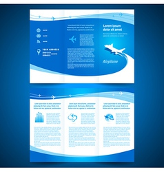 brochure airplane vector image