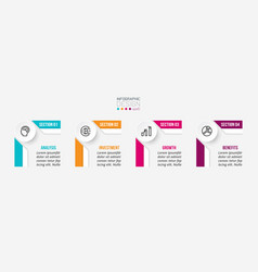 Business infographic template with step or option vector