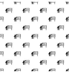 Businessman and presentation screen pattern vector
