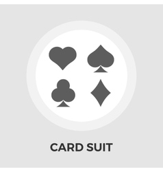 Card suit Flat Icon vector image