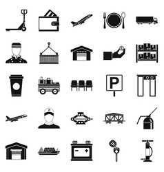 Charger icons set simple style vector