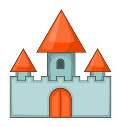Chillon castle in Montreux icon cartoon style vector