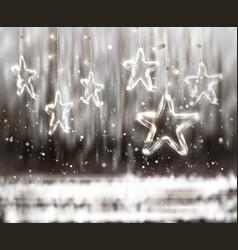 christmas background de-focused lights vector image