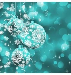 Christmas ball over glow light bokeh EPS 8 vector
