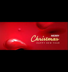 christmas banner header red horizontal vector image