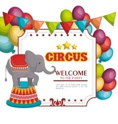 circus entertainment amazing show vector image