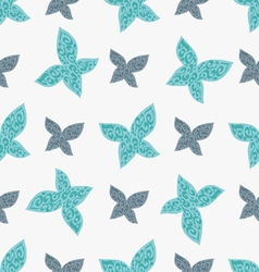 Color seamless pattern of colorful butterflies vector