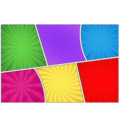 comic book page colorful background vector image