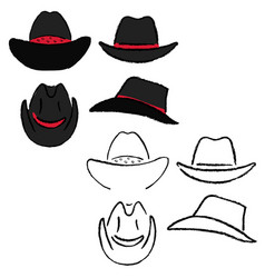 Cowboy hat template vector