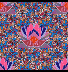 cute floral background beautiful fabric pattern vector image