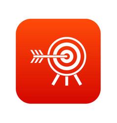 darts icon digital red vector image