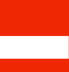 Flag of indonesia in official rate and colors vector