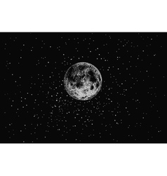 Full moon in outer space vector