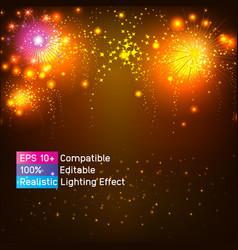 Golden party light sparkle glitter shine glow vector