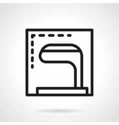 Golf club simple line icon vector image