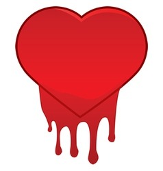 Heart bleeding vector