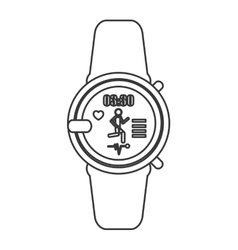 Heartrate wrist monitor icon line design vector