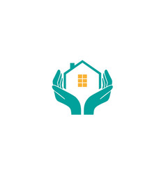 house holding care logo design vector image